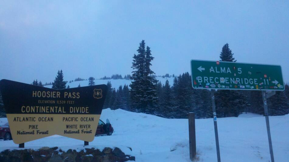 Hoosier Pass Continental Divide