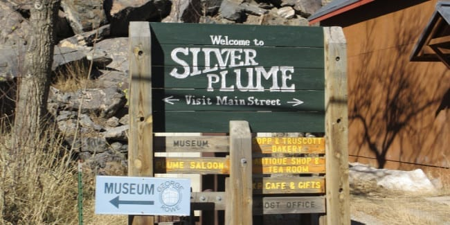 Silver Plume Welcome Sign