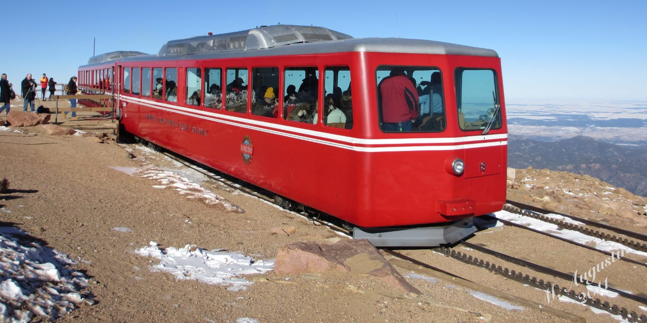 Pikes Peak Cog Railway Manitou Springs Colorado