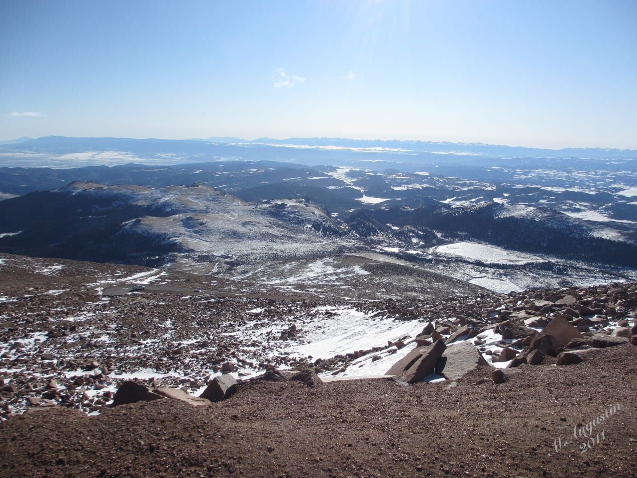 Pikes Peak Colorado Summit Aerial View