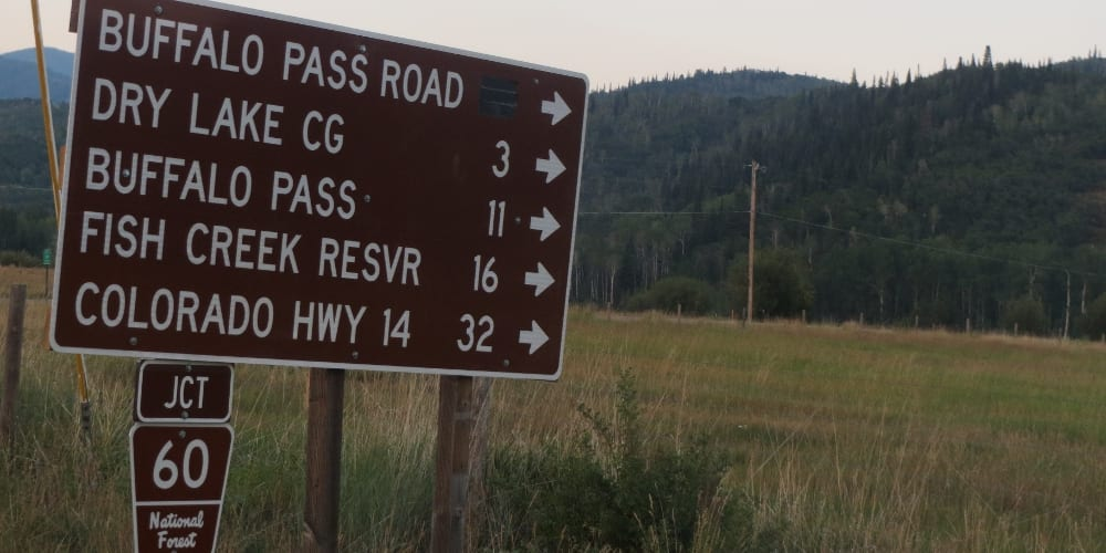 Routt National Forest Access Sign