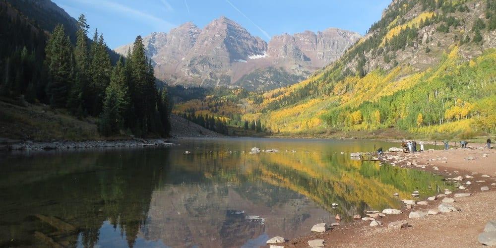 Maroon Bells Lake Autumn