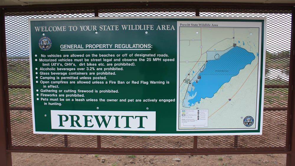 Prewitt Reservoir State Wildlife Area Map