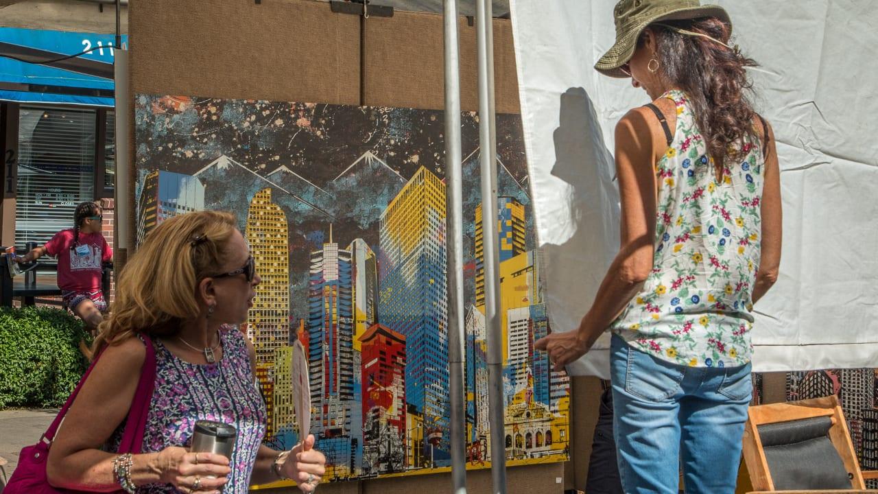 Cherry Creek Arts Festival Denver Colorado Skyline Paintball