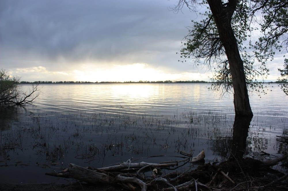Barr Lake State Park Sunset