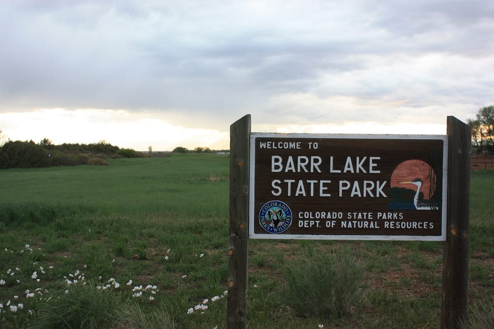 Barr Lake State Park Sign