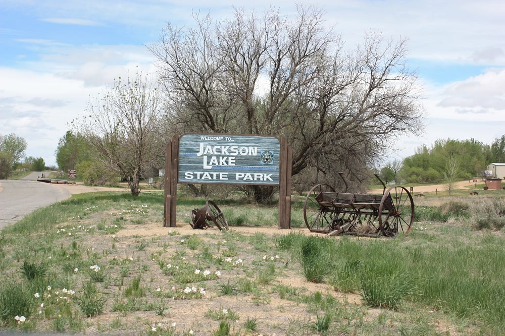 Jackson Lake State Park Welcome Sign