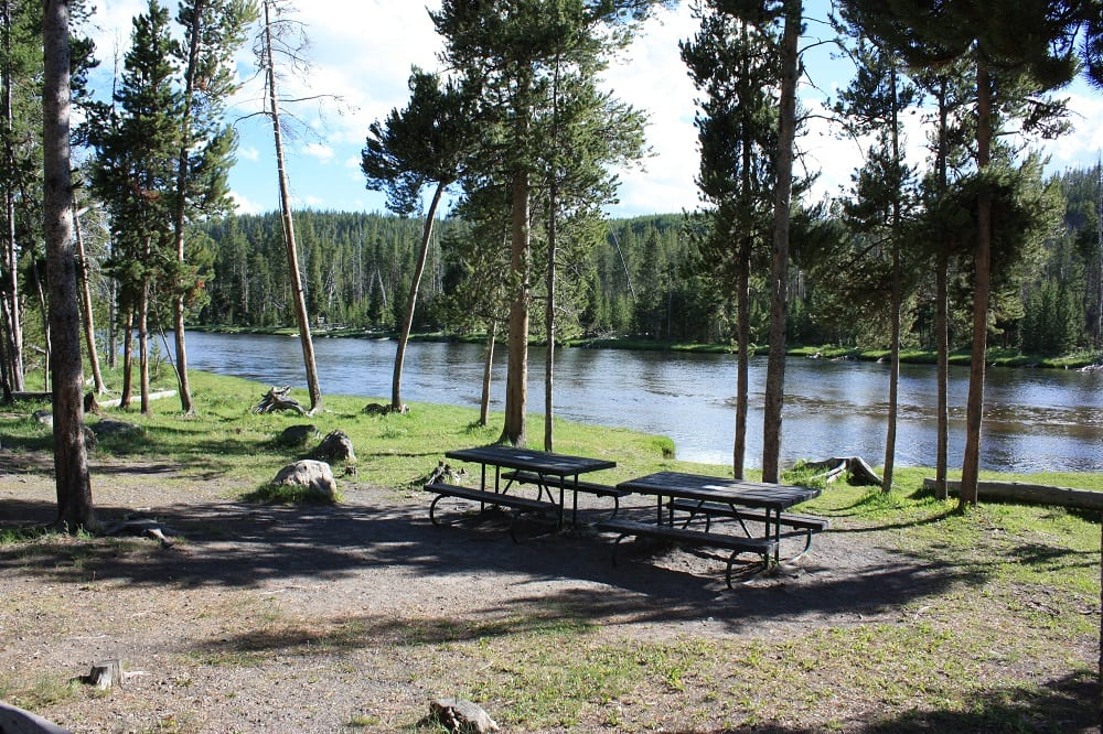 A Picnic Area By The Firehole River