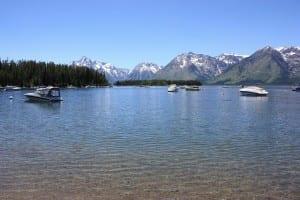 Grant Teton Jackson Lake Boating