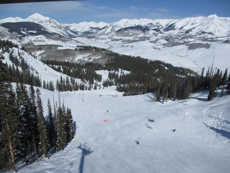 Crested Butte Ski Resort Aerial View