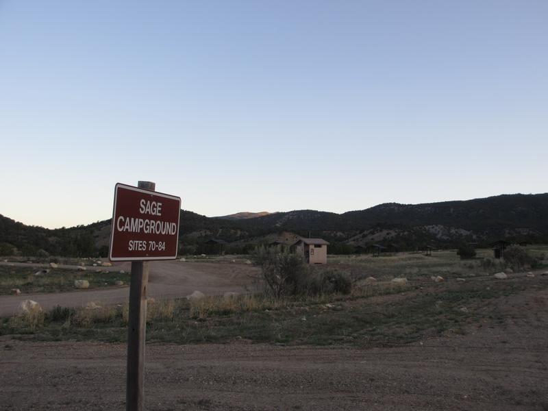 Rifle Gap State Park Sage Campground