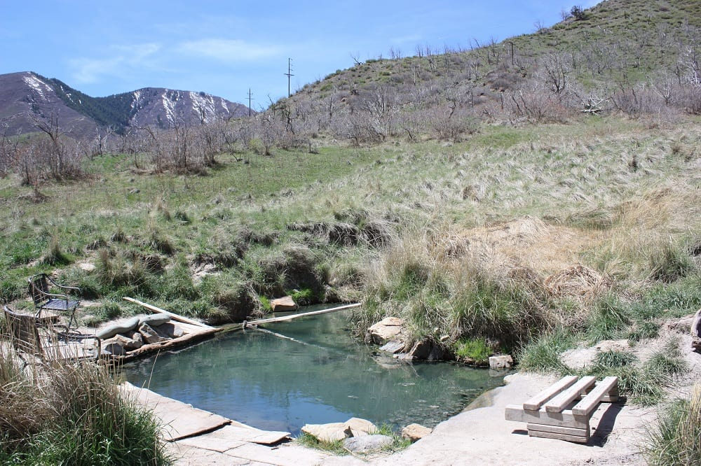 South Canyon Hot Springs Seating