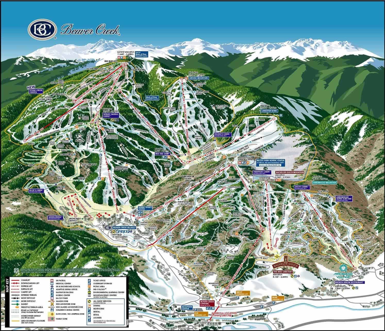 winter park colorado map with Beaver Creek Resort on 5 Non Skiing Activities in addition Cave Winds as well Mount Mitchell State Park besides Spotlight Joshua Tree National Park together with Shuttle bus route.