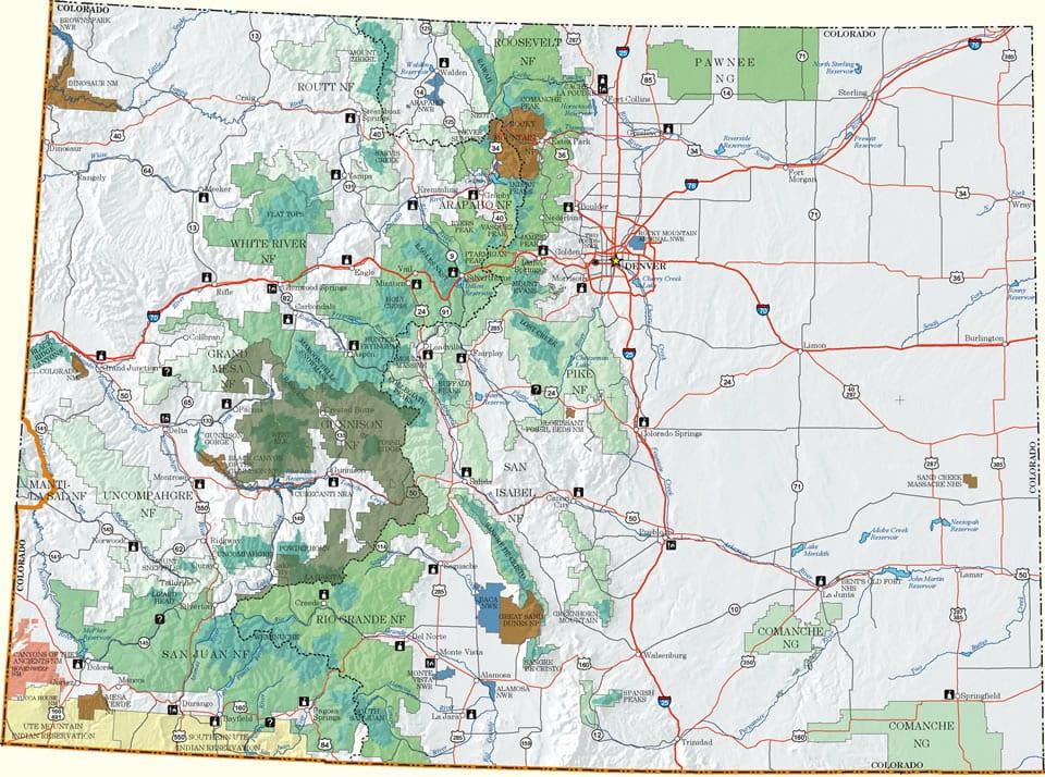 gunnison national forest colorado national lands