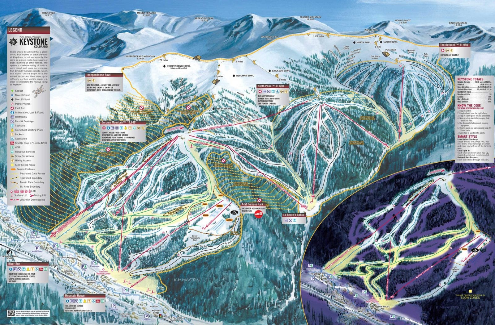 Keystone Ski Resort Colorado Ski Areas - Map of us ski resorts