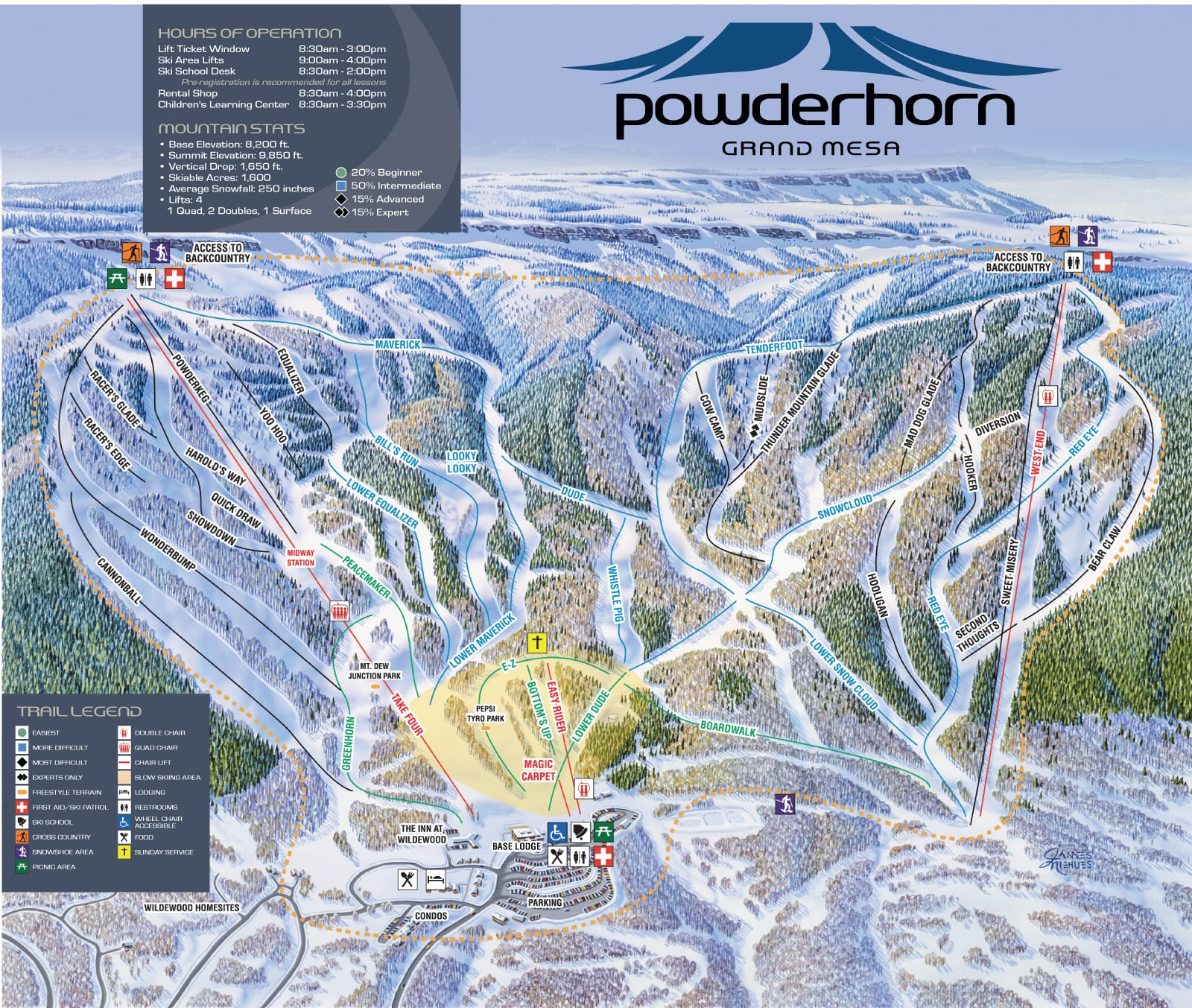 elevation map of colorado with Powderhorn Mountain Resort on Snow Forecast In Colorado Montana Wyoming Tonight Friday in addition 36521661 moreover Taking Roadtrip To Telluride Colorado likewise Ski Resort furthermore Boones Creek 1.