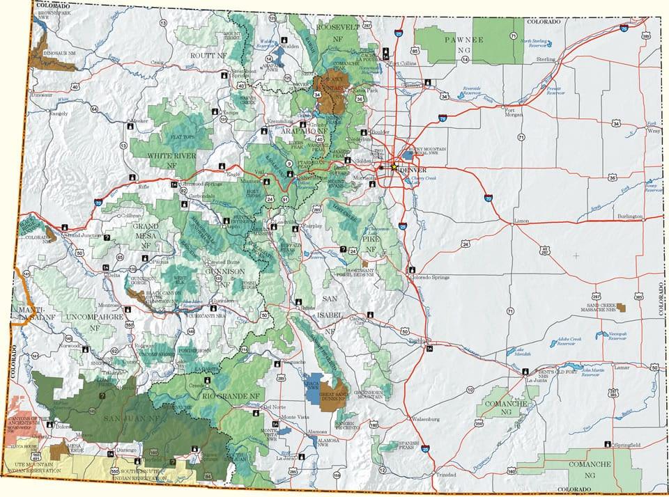 San Juan National Forest Map