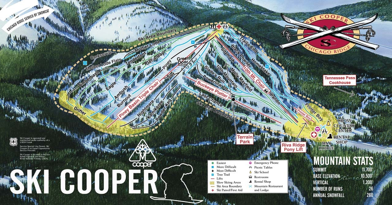 vail map with Ski Cooper on Hotspringsmap further Dartmoor National Park likewise Moabmap besides Snowmass Mountain in addition Vail Resorts Buys Wilmot Mountain Ski Resort Near Chicago.