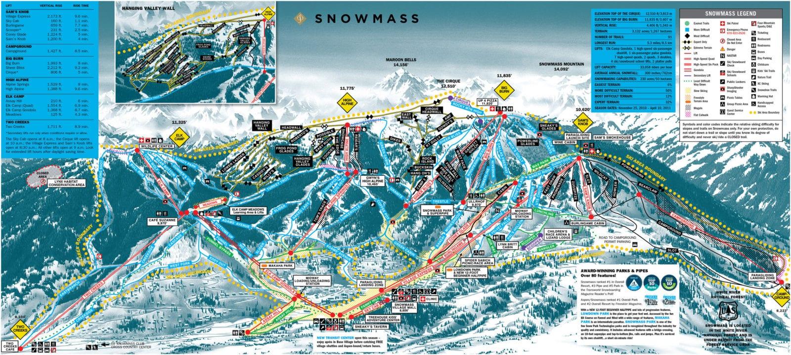 Snowmass Mountain Ski Resort Breckenridge Co Snowmass