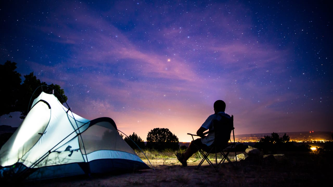 Tent Camping Night Stars Fruita Colorado