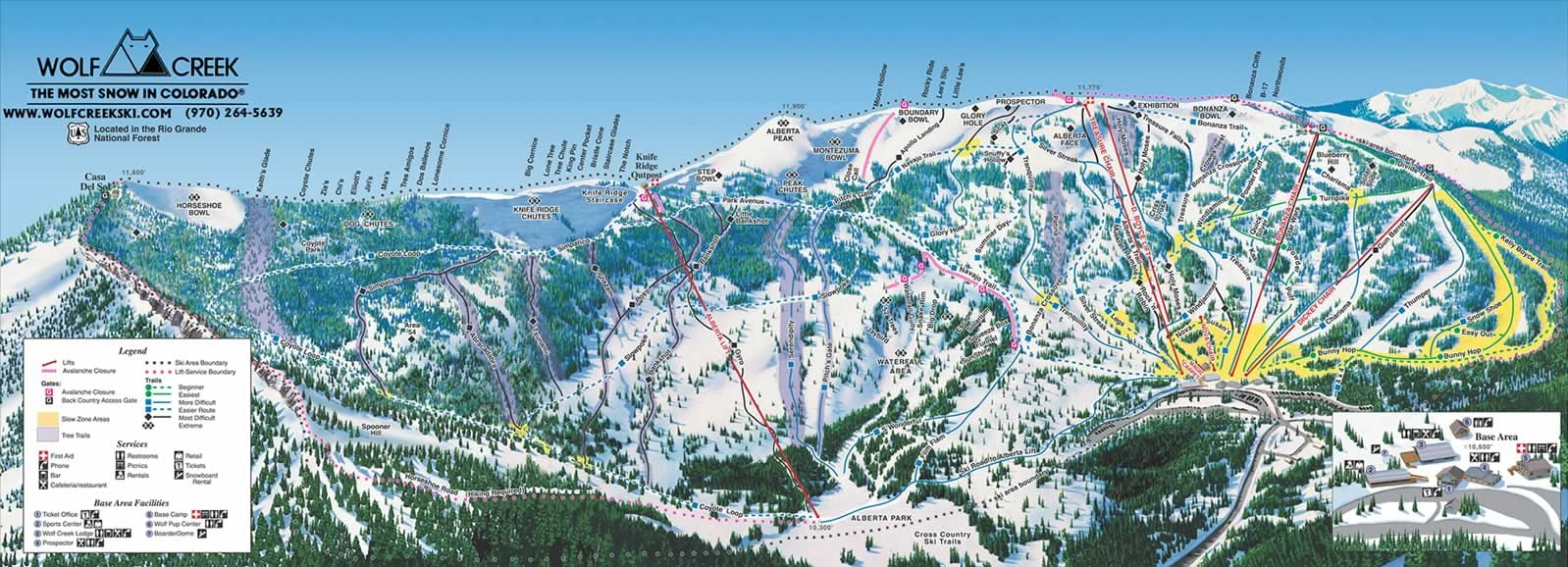 map of colorado ski areas with Wolf Creek Ski Area on Piste Map furthermore Colorado Elevation Map moreover Stevens Pass Ski Trail Map as well Steamboat 20Smokehouse likewise The Best Ski Town Celebrations For New Years Eve.