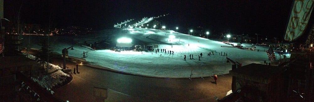 Steamboat Night Skiing Panorama