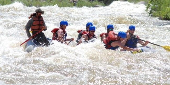 Arkansas River Whitewater Rafting Ca 241 On City Salida