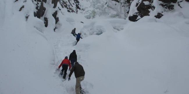 Snowshoeing Fish Creek Falls