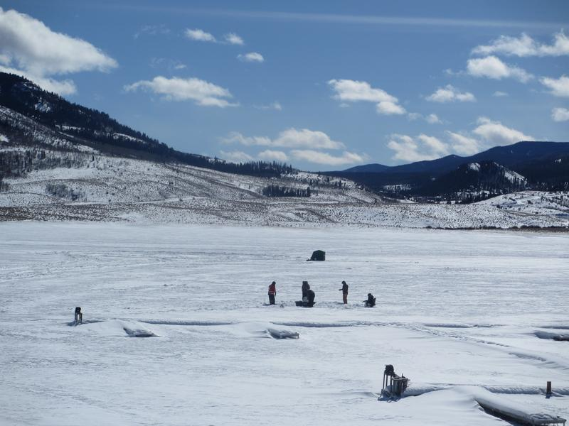 Winter Ice Fishing By Steamboat Springs Stagecoach