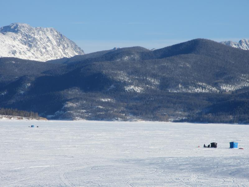 Ice fishing the great lakes of colorado ice fishing at for Lake granby fishing report