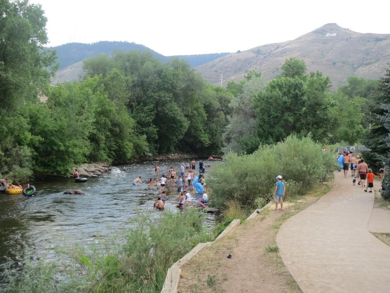 Clear Creek Whitewater Park Golden Colorado River Tubing