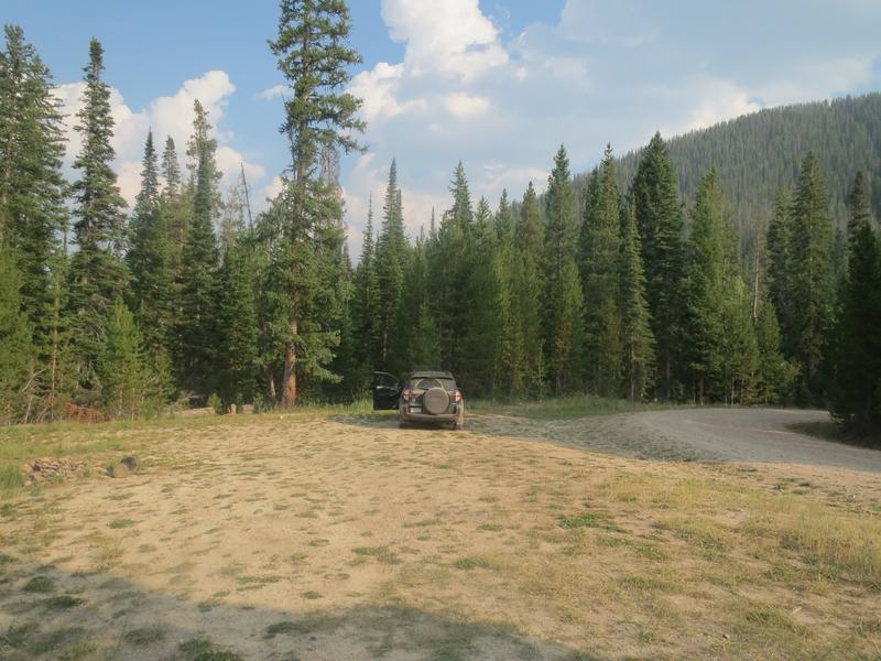 Hahns Peak Lake Dispersed Camping