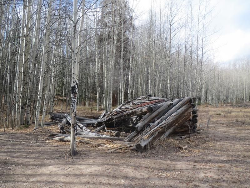 Image of a collapsed building in Bachelor City Ghost Town