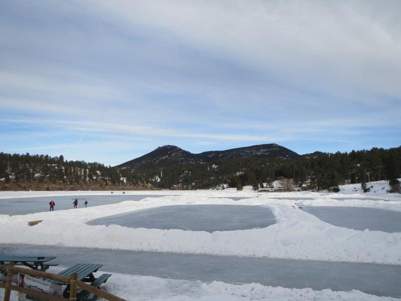 Evergreen Lake Colorado Ice Skating
