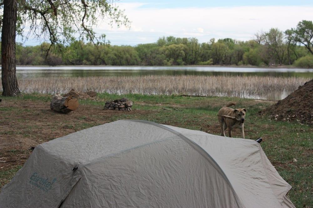 Prewitt Reservoir Camping Tent