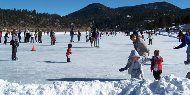 Evergreen Lake Ice Skating