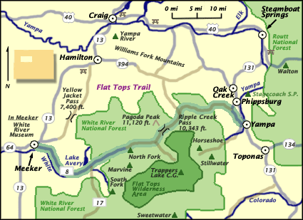 Flat Tops Trail Byway | National Scenic Byway from Yampa to Meeker, CO