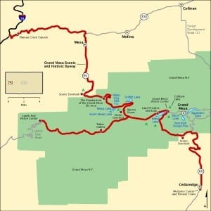 Grand Mesa Scenic Byway Map