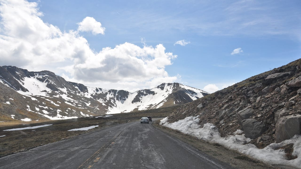 Mount Evans Scenic Byway June Driving