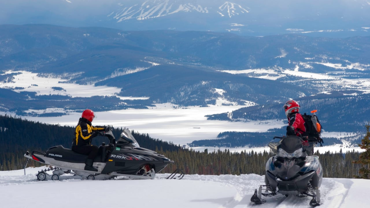 Snowmobiling Grand County Colorado Overlook