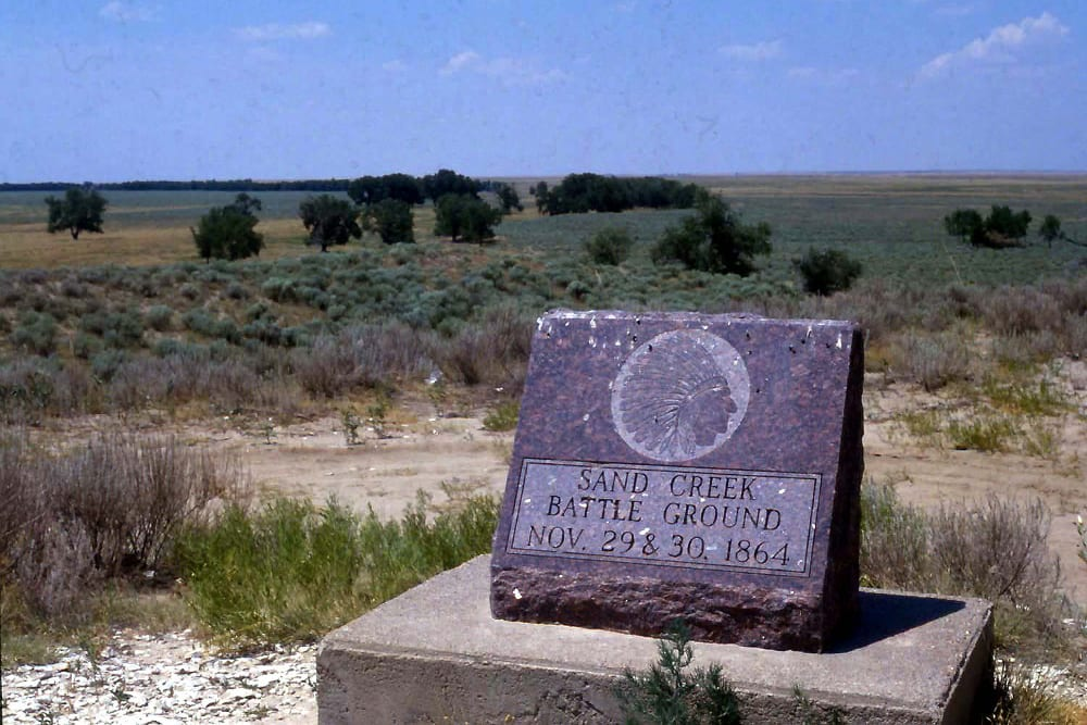 Sand Creek Massacre Headstone
