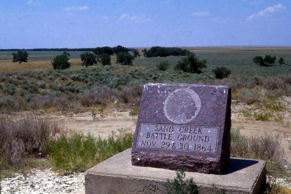 Sand Creek Massacre Headstone