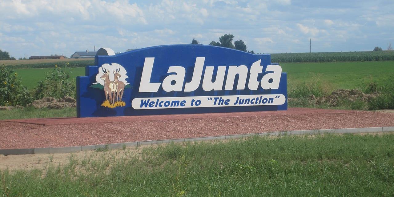 La Junta Colorado Welcome Sign