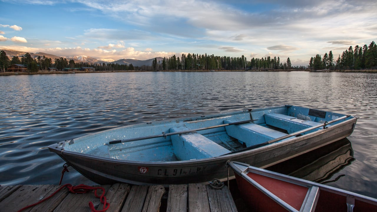 Row Boats Grand Lake Colorado