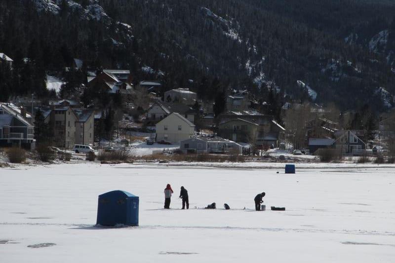 Ice fishing beside i 70 in georgetown georgetown for Lake georgetown fishing