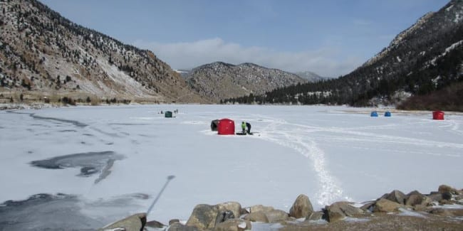 Ice fishing beside i 70 in georgetown georgetown for Colorado one day fishing license