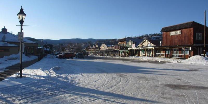 Grand Lake CO Downtown Winter