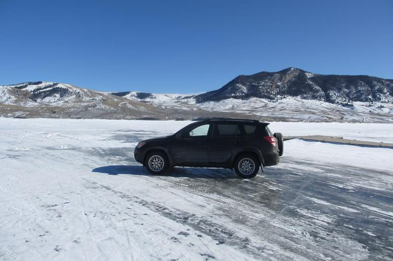 Wolford Mountain Reservoir Ice