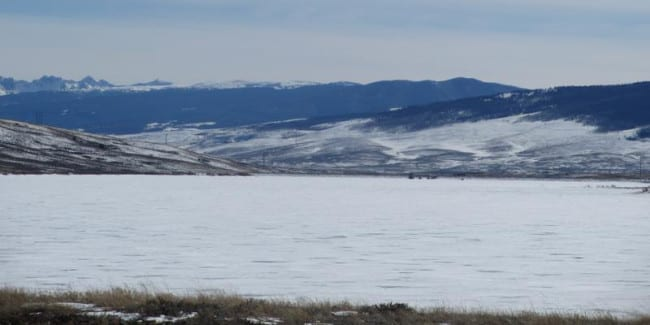 Wolford Mountain Reservoir Winter