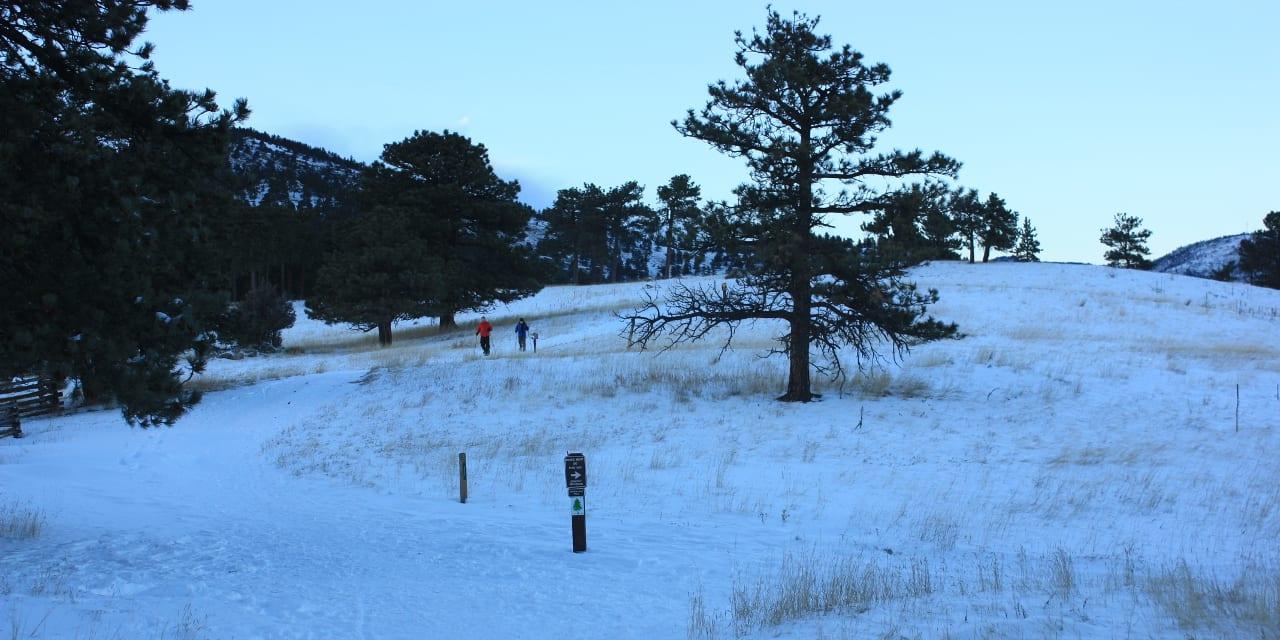 Betasso Preserve Boulder Winter